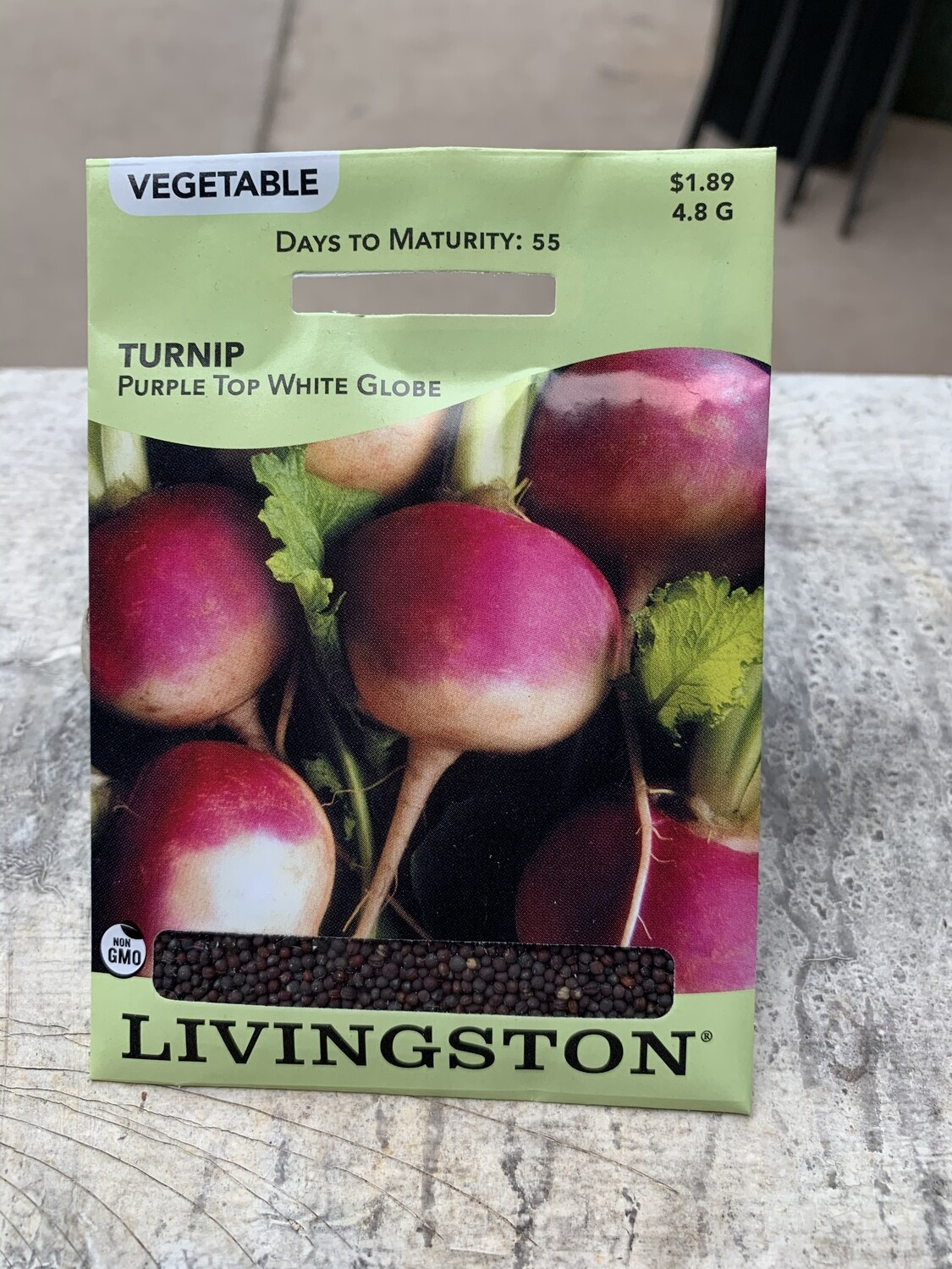 Turnip Purple Top White Globe (Seed) $1.89