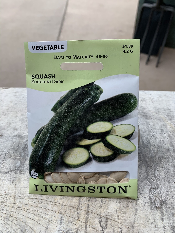 Squash Zucchini DARK (Seed) $1.89