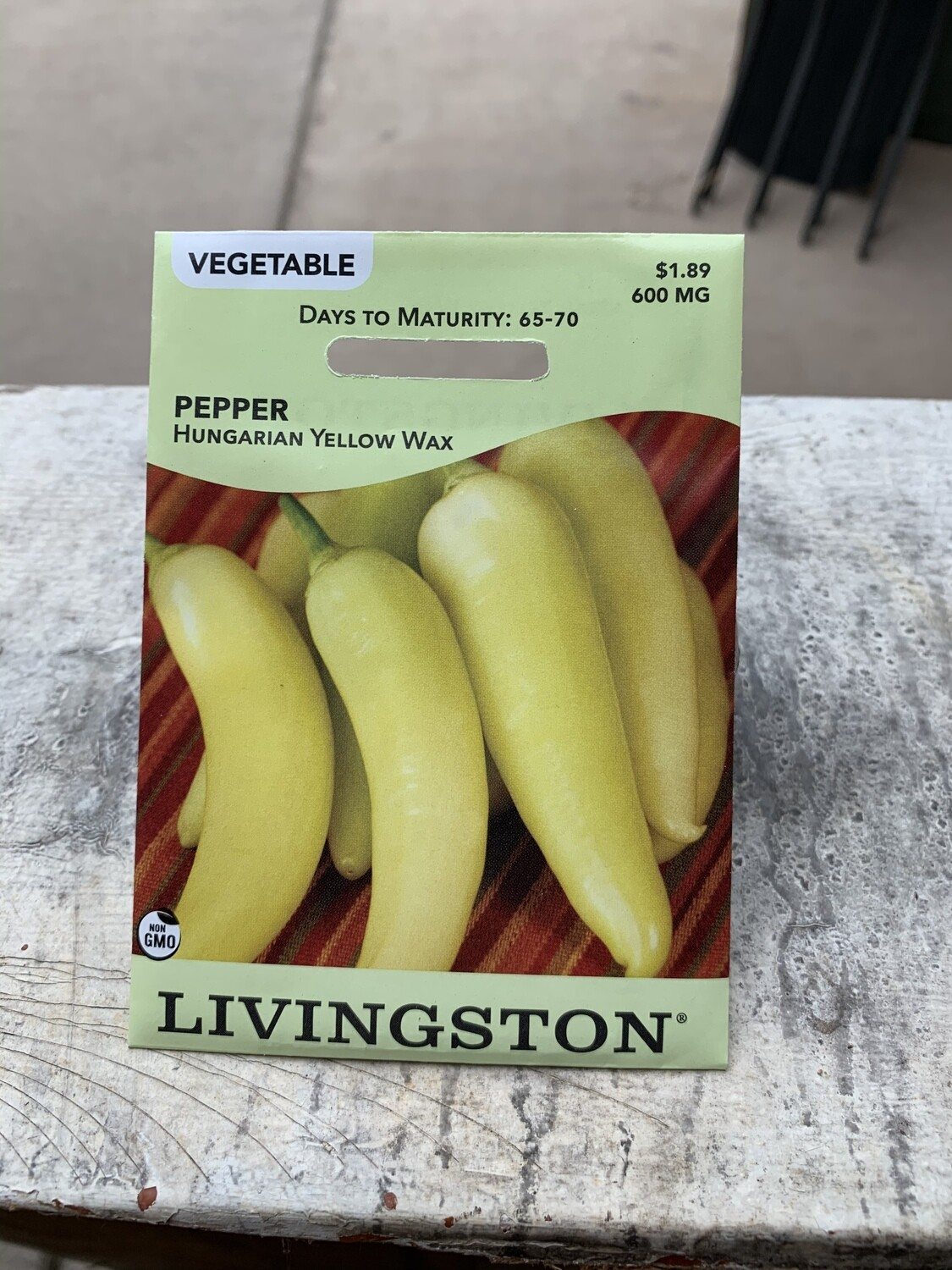 Pepper Hungarian Yellow (Seed) $1.89