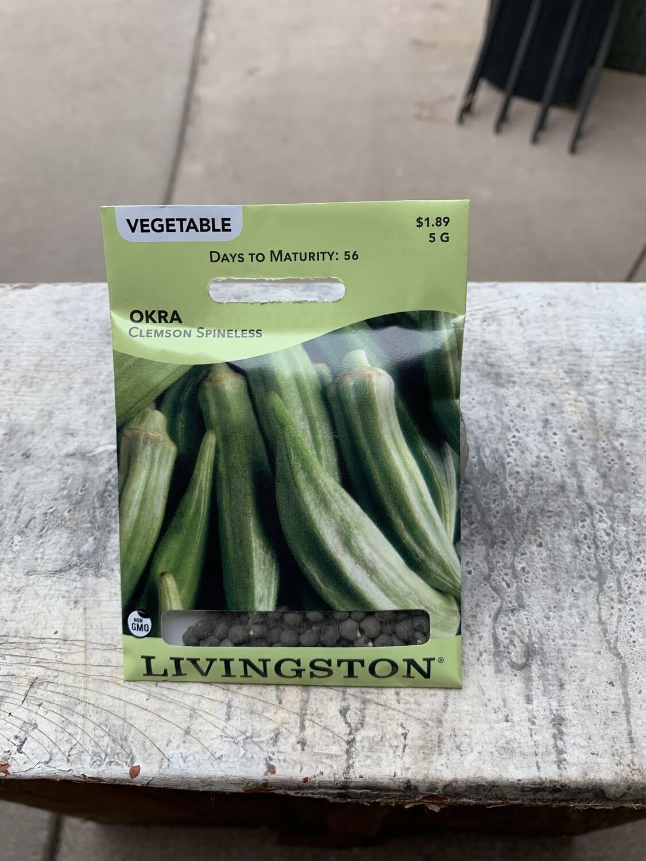 Okra Clemson Spineless (Seed) $1.89