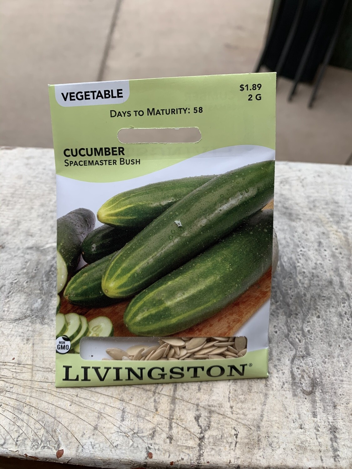 Cucumber Spacemaster Bush (Seed) $1.89