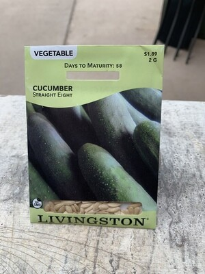 Cucumber Straight Eight (Seed) $1.89
