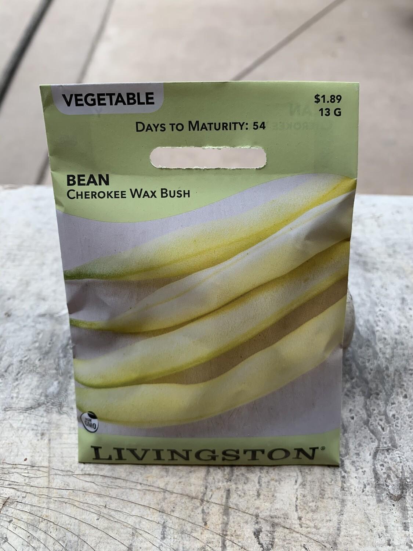 Bean Cherokee Wax (Seed) $1.89