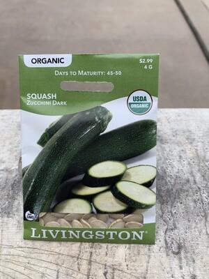Organic Squash Zucchini Dark (Seed) $2.99