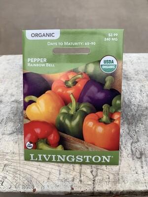 Organic Pepper Rainbow Bell (Seed) $2.99