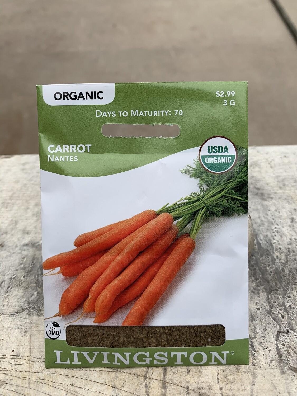 Organic Carrot NANTES (Seed) $2.99