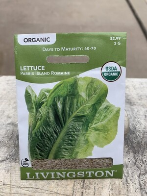 Organic Lettuce Parris Island Romaine (Seed) $2.99