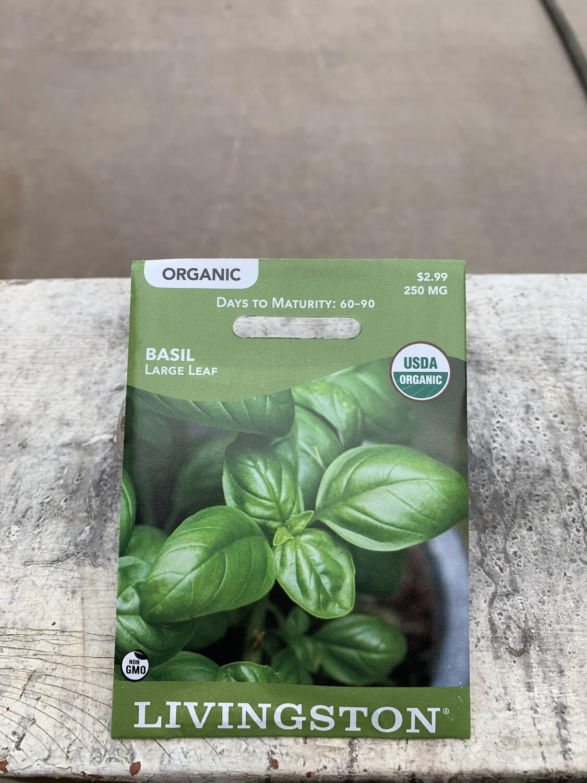 Organic Basil Large Leaf (Seed) $2.99
