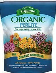 Perlite Espoma Organic (8 quart bag) $12.99