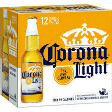Corona Light (12 pack) $15.99