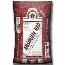 Bag RED Mulch  (2 cu ft bag) Double Shredded