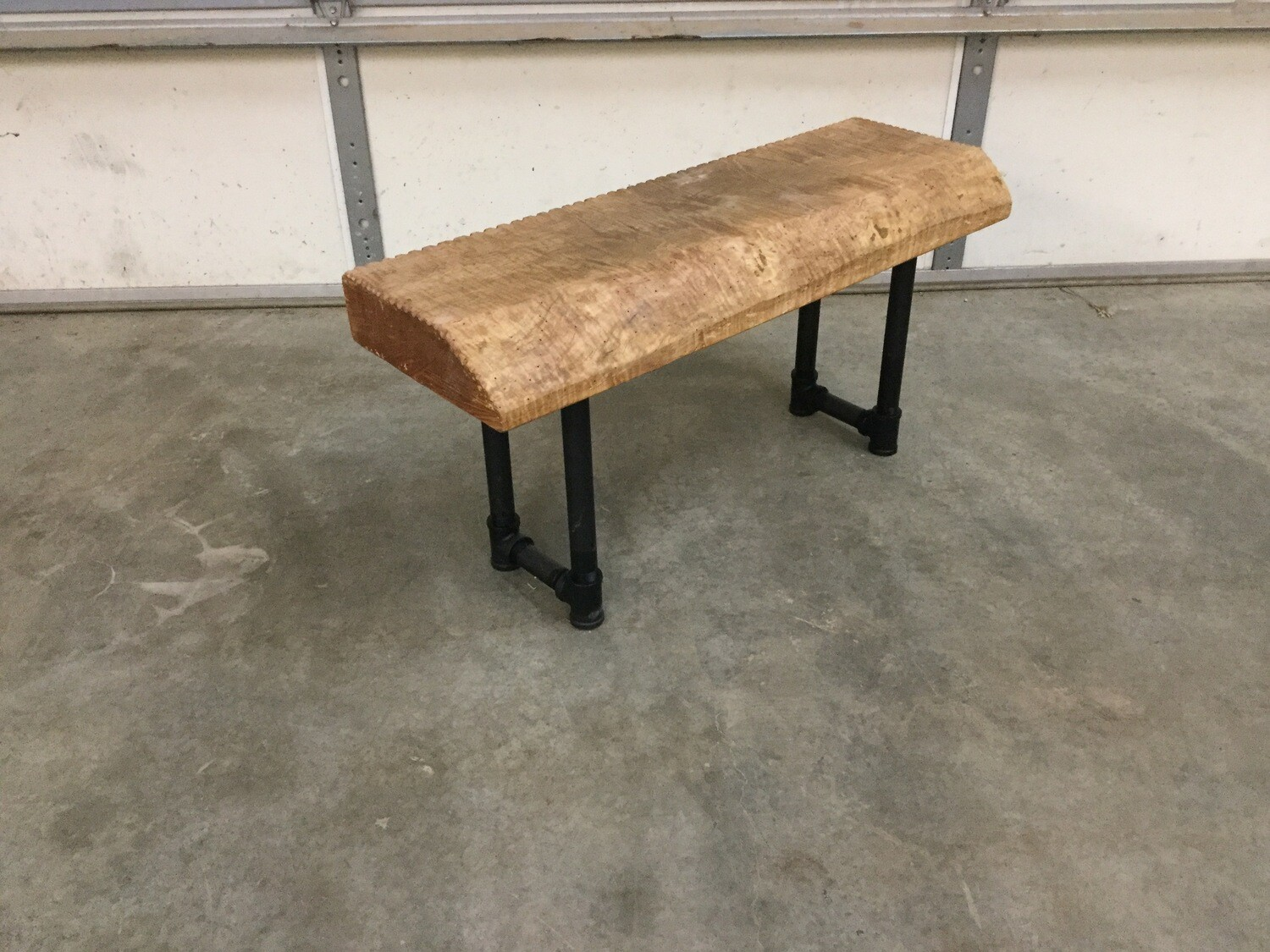 2057 Curly Maple Live Edge Porch Bench $249.99