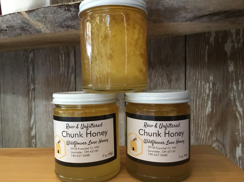 Wildflower Lane Raw & Unfiltered Chunk Honey (12 oz) $16.00