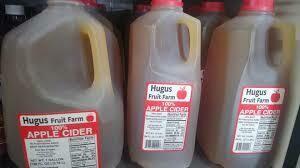 Apple Cider (1/2 gallon) $4.25