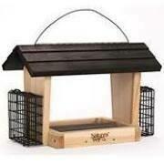 Natures Way Cedar 6 qt Hopper Bird Feeder with Suet Cages $52.99
