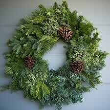 "24"" Wreath Mixed Greens,  Juniper & Cones $34.99 -Holiday"