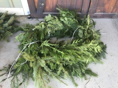 (25' Roll) Cedar/Douglas Fir Roping $49.99 -Holiday