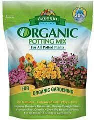 Potting Mix Espoma Organic (8 quart bag) $8.99