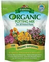 Potting Mix Espoma Organic (4 quart bag) $6.99