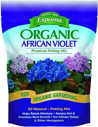 African Violet Mix Espoma Organic (4 quart bag) $7.99