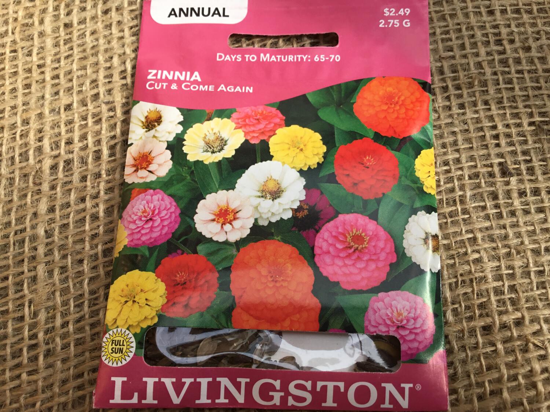 Zinnia Cut & Come Again (Seed) $2.49