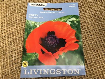 Poppy Oriental Red (Seed) $1.99