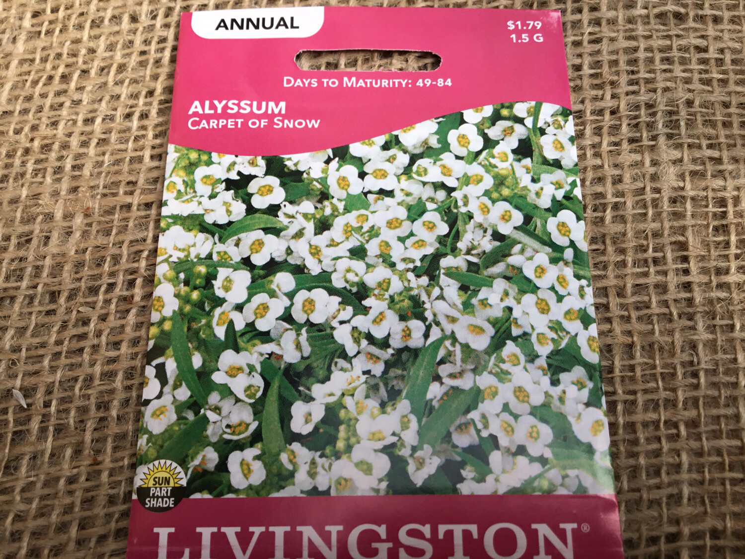Alyssum Carpet of Snow (Seed) $1.79