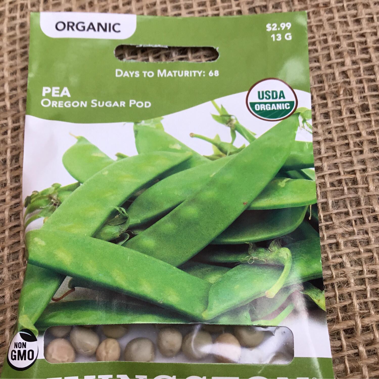 Organic Pea Oregon Sugar Pod (Seed) $2.99
