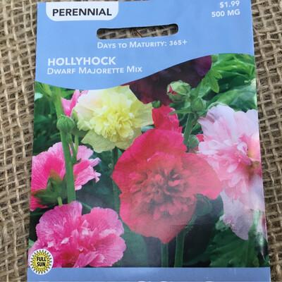 Hollyhock DWARF (Seed) $1.99