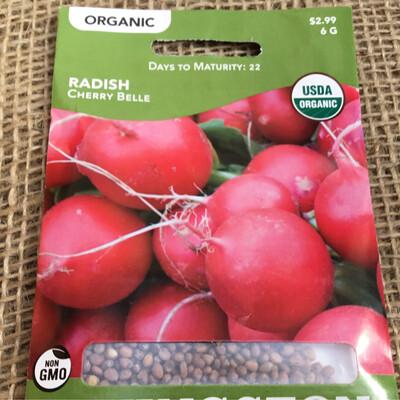 Organic Radish Cherry Belle (Seed) $2.99
