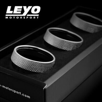 LEYO Motorsport Infotaiment Alu Rings VW 3 Stück Touchscreen