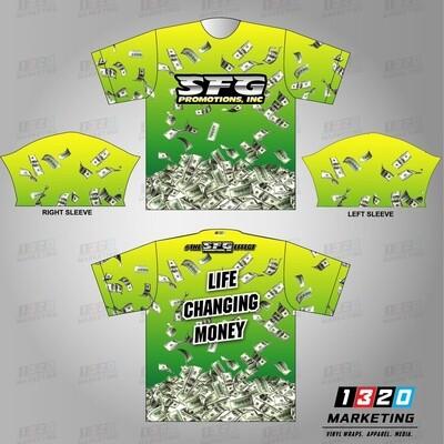"""Sublimated """"Money"""" T-Shirt"""