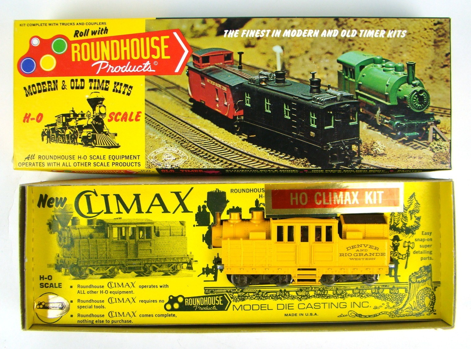 Roundhouse 2774 D&RGW Climax Locomotive Kit HO Scale