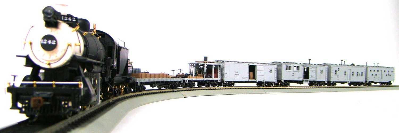 MRRHQ Custom Roundhouse/Walthers UP Work Train w/Custom Harriman 4-6-0 Survivor #1242 Replica Locomotive HO Scale