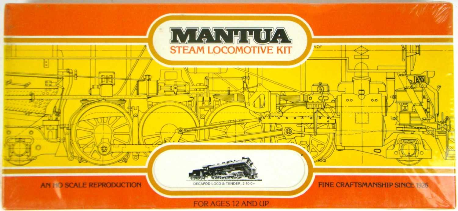FACTORY SEALED Mantua 518 2-10-0 Decapod Kit Undecorated HO Scale