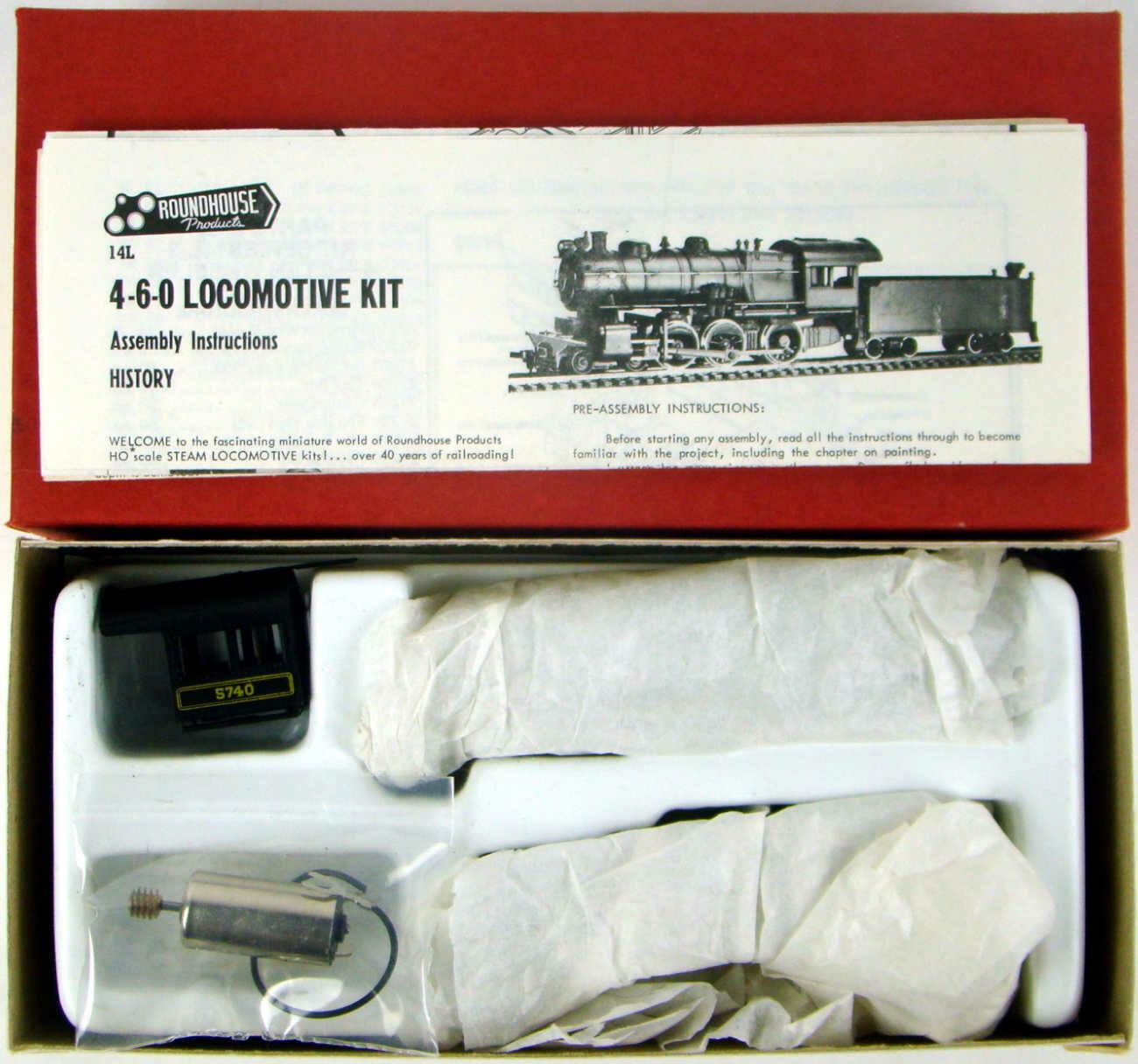 Roundhouse 453 PRR 4-6-0 Ten Wheeler Kit w/Can Motor HO Scale