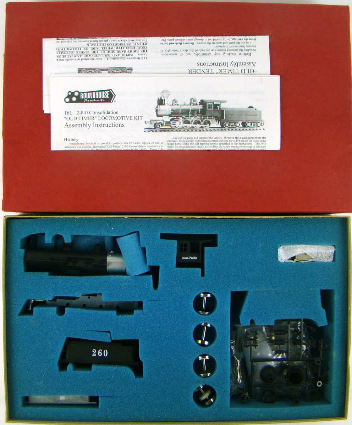 Roundhouse 484 Union Pacific 2-8-0 (Early) Consolidation Locomotive Kit HO Scale