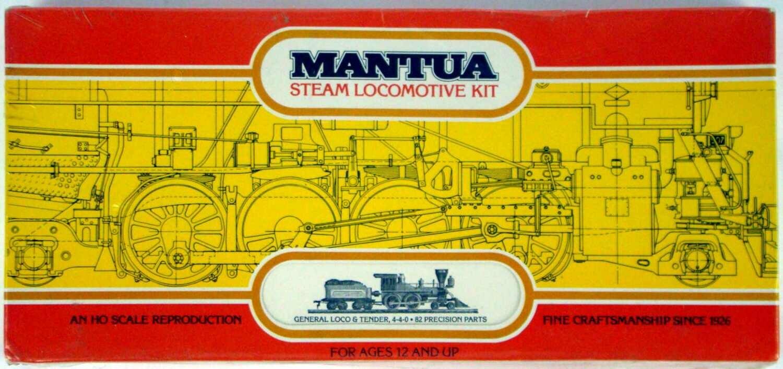 "FACTORY SEALED Mantua 507 4-4-0 American Standard ""General"" Locomotive Kit HO Scale"
