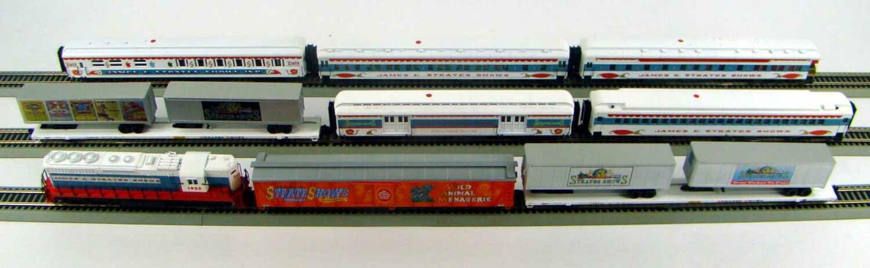 "MRRHQ Custom James Strates Shows ""SUPER STRATES EXPRESS"" Circus Train Set HO Scale"