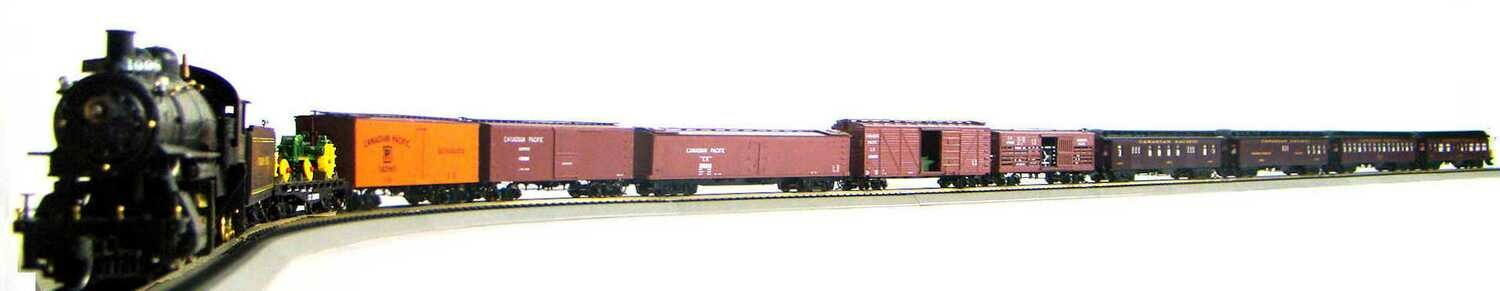 MRRHQ Custom Canadian Pacific Mixed Freight/Passenger Set w/Custom CP Survivor Class D10H 4-6-0 #1098 Replica HO Scale