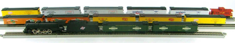 "MRRHQ Custom C&NW Dairyland Express 13 Car Reefer Freight Train with Custom Replica Class ""J"" 2-8-2 Mikado #2304 Locomotive HO Scale"