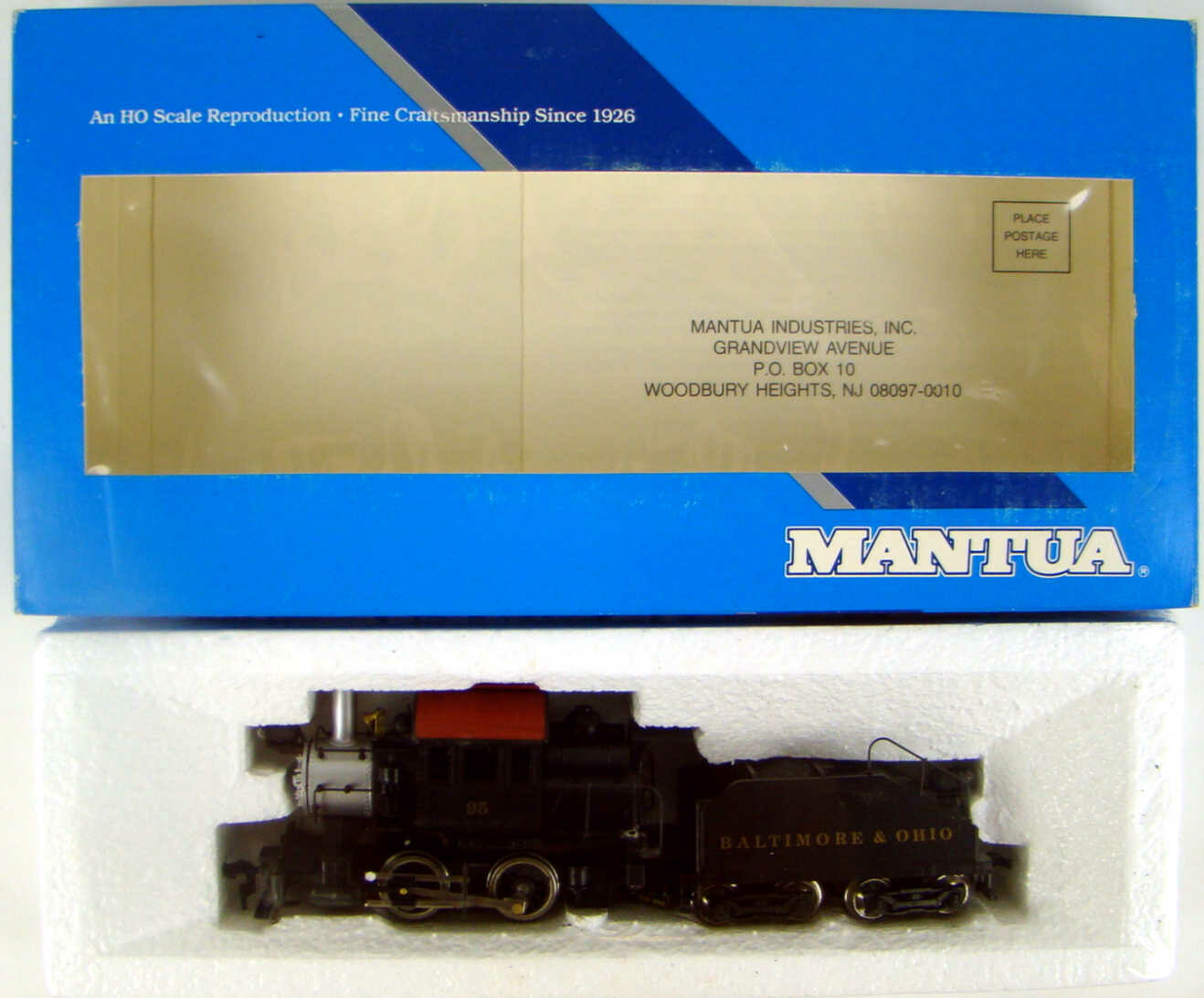 FACTORY SEALED Mantua 335-025 B&O 0-6-0 B7a Goat Camelback Switcher HO Scale