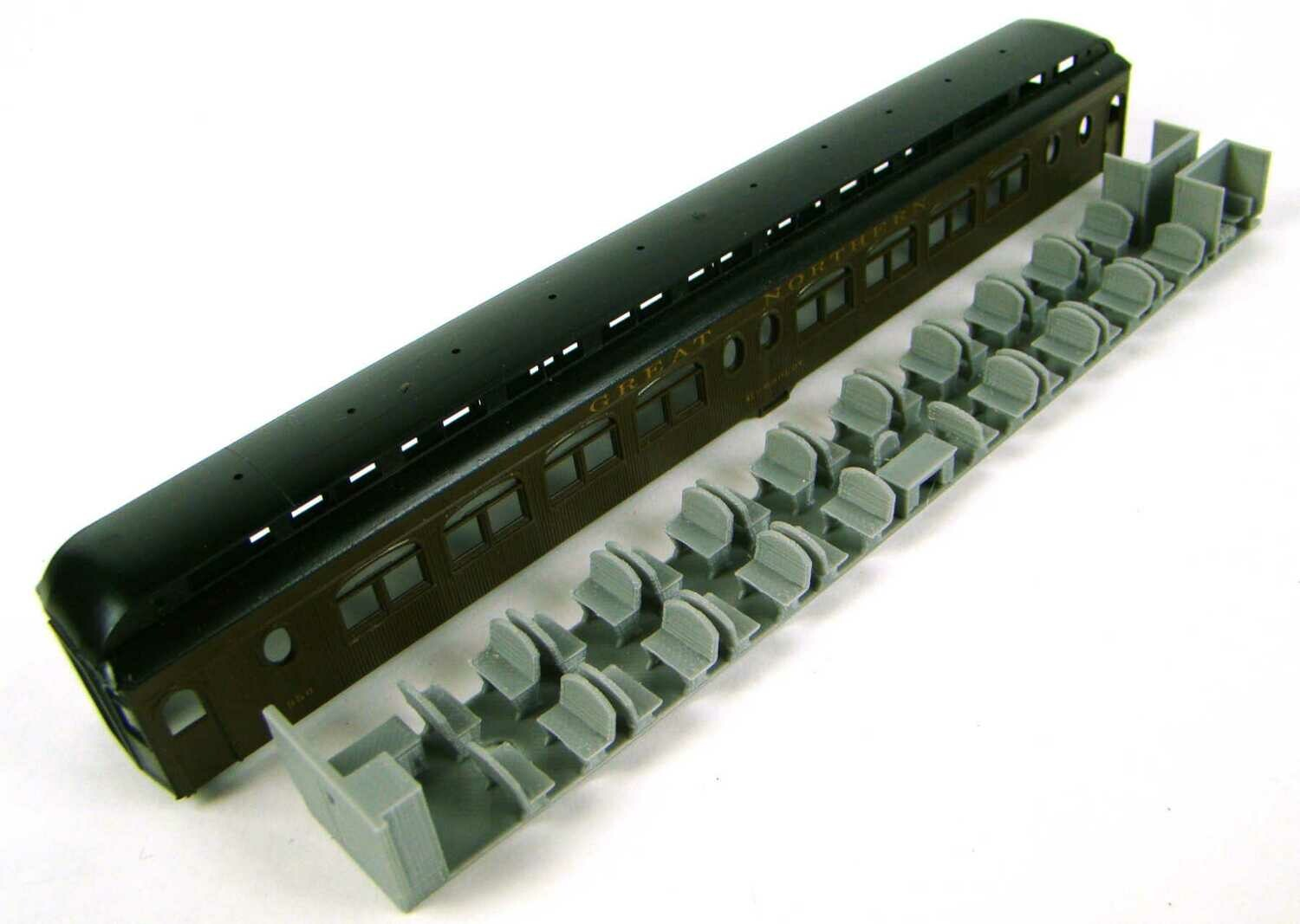 MRRHQ Custom HO Scale Interior for MDC/Roundhouse 85' Pullman Palace Passenger Coaches