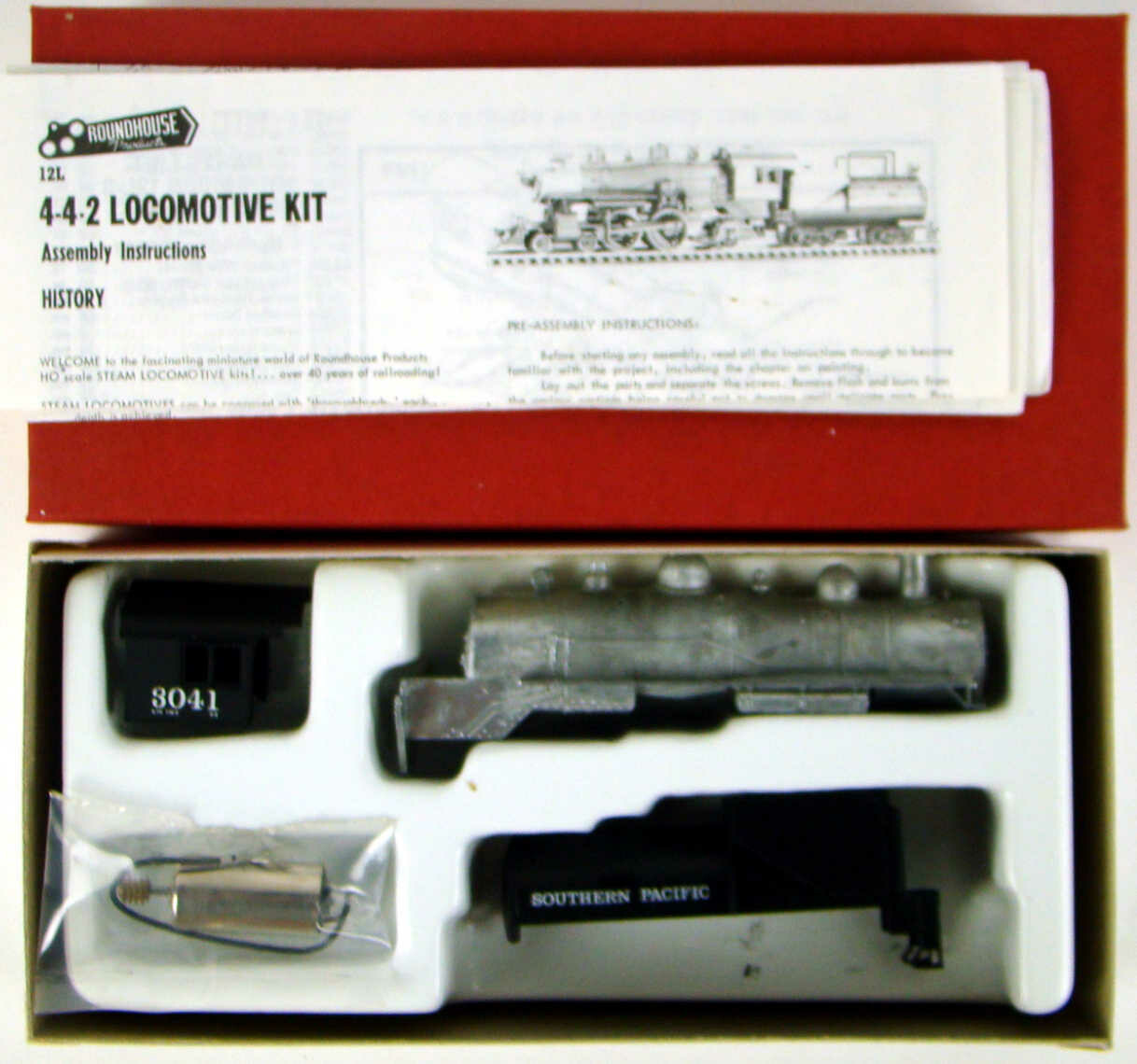 Roundhouse 429 Southern Pacific 4-4-2 Atlantic Kit w/Vandy Tender & Can Motor HO Scale
