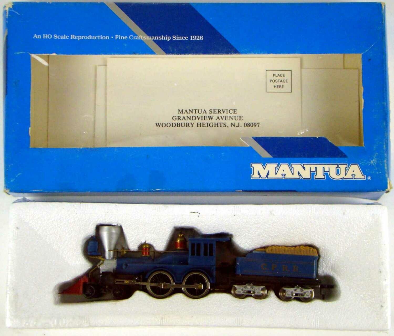 "FACTORY SEALED Mantua 307-06 Rare ""Blue"" CP 4-4-0 American Standard Locomotive HO Scale"