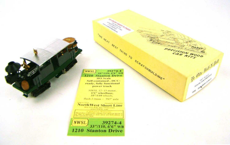 "MRRHQ Custom ""Ye Olde Huff-N-Puff"" 1050 Hommer Climax Locomotive w/NWSL Stanton Drive & LED Headlamp HO Scale"