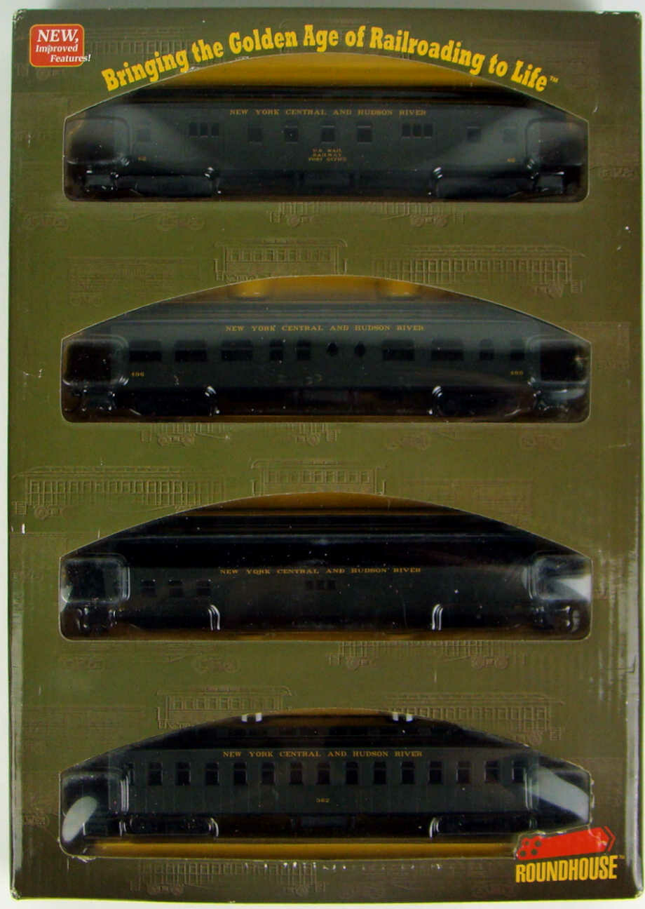 Athearn/Roundhouse 84831 NYC&HR 4-Car 50' Overland Coach Set HO Scale