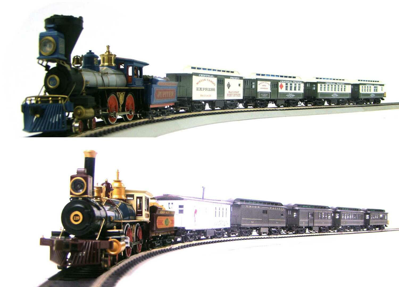 "MRRHQ Custom Limited Edition GS2 1860s CP&UP ""Golden Spike"" Dual Passenger Trains Set"