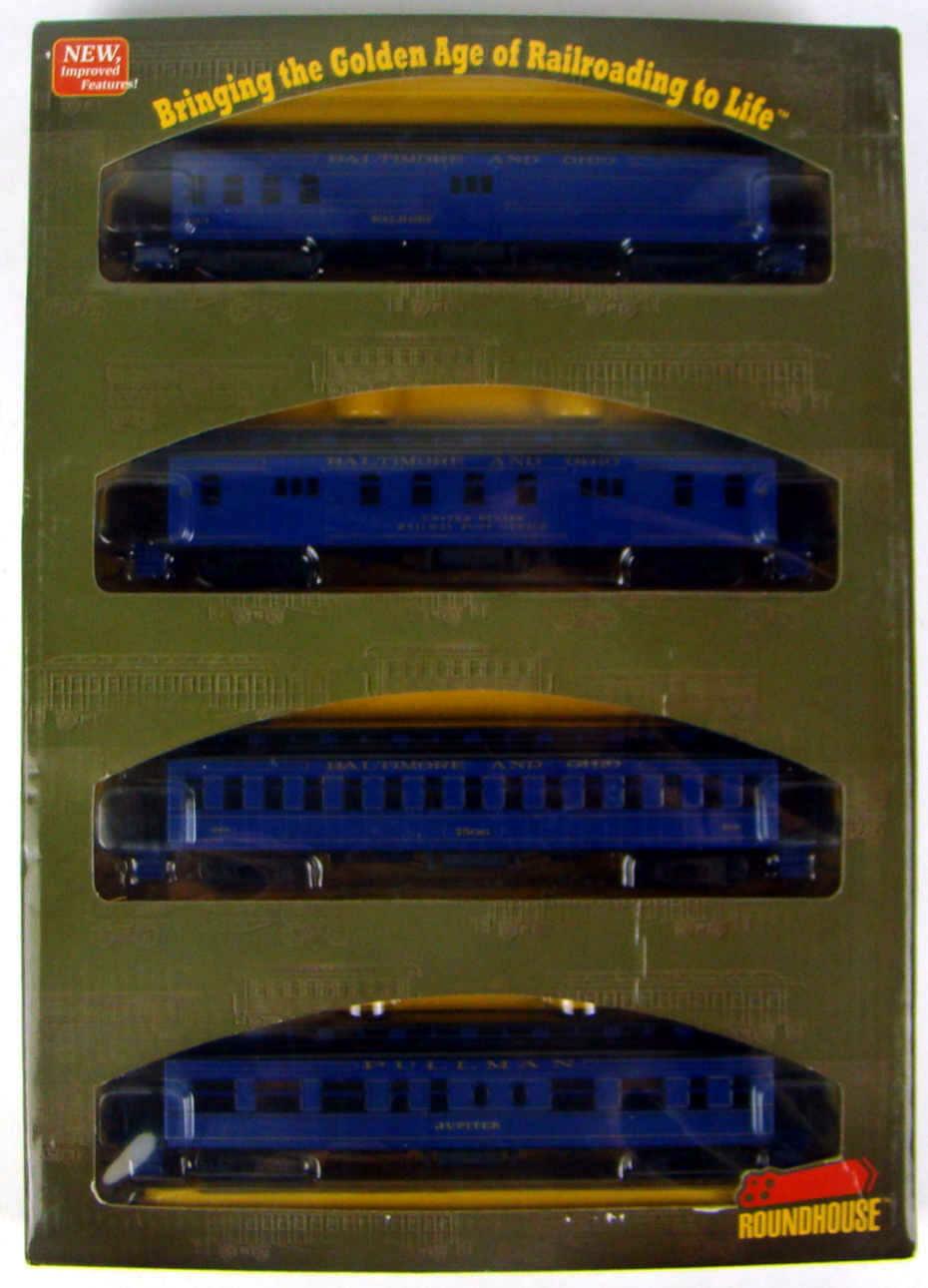 Athearn/Roundhouse 84822 Baltimore & Ohio 4-Car 50' Overland Coach Set HO Scale