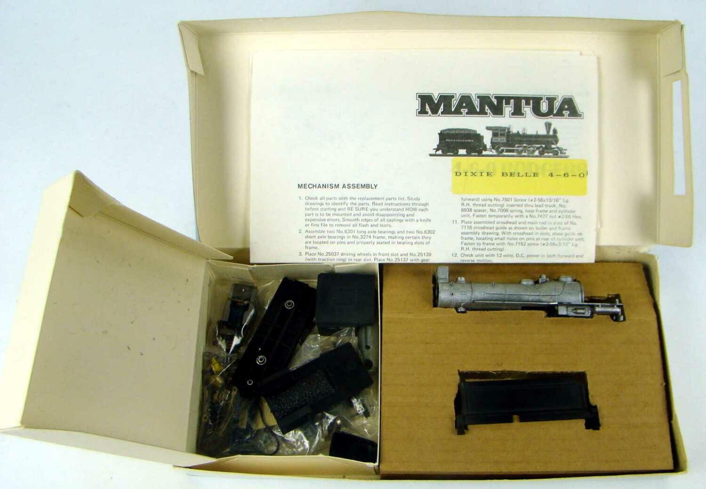 Mantua 508 1890 4-6-0 Dixie Bell Ten Wheeler Kit HO Scale